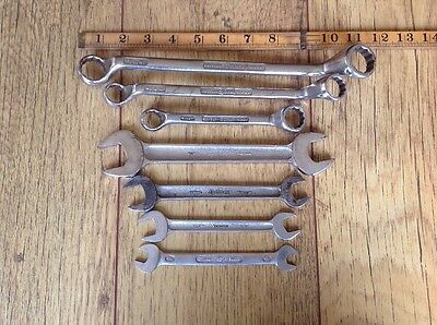 7 Vintage Spinney British Made Whitworth & Imperial Spanners.