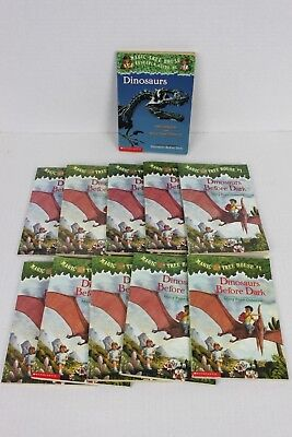 MAGIC TREE HOUSE #1 LOT - 10 Chapter Books + Research Guide Mary Pope Osborne