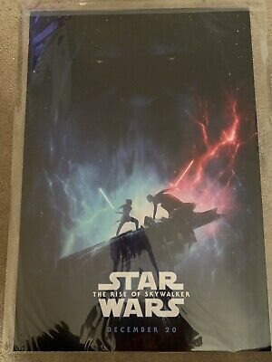 """2019 D23 Expo Star Wars The Rise Of Skywalker Poster 19"""" x 27""""  Shipped FLAT"""