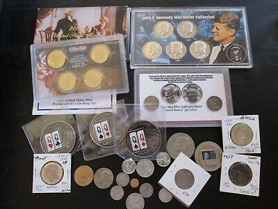 Mixed Lot of Silver, Proof, Exonumia, Foreign and other Coins