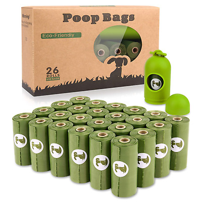 Yingdelai Dog Poo Bags - 26 Rolls 390 Bags with 1 Dispenser-Biodegradable,Eco
