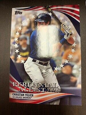 Christian Yelich - 2019 Topps Update Perennial All Stars Card #Pas-47 Brewers