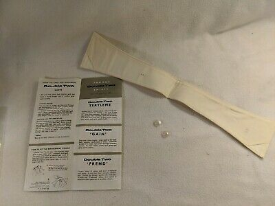 """New Vintage Double Two Replacement Collar 15.5"""" with 2 buttons and instructions"""
