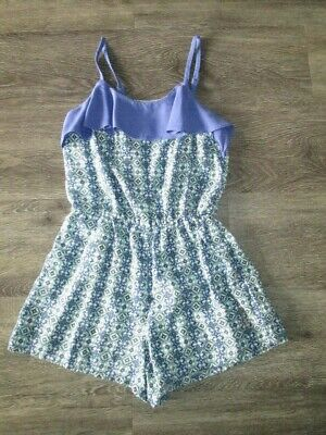 Girls Juicy Couture Purple/White Playsuit Size L (10-12 Yrs) Vgc