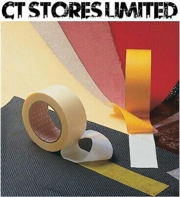 Double Sided Carpet & Floor Join Tape Heavy Duty Strong Lino Vinyl Stick Adhere