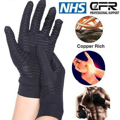 Compression Copper Anti Arthritis Gloves Hand Support Carpal Tunnel Pain Brace P