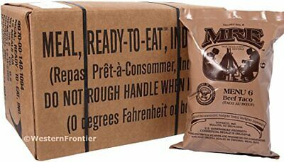 GENUINE US MILITARY MRE A OR B CASE (Meals Ready-To-Eat) Insp date 02-2019