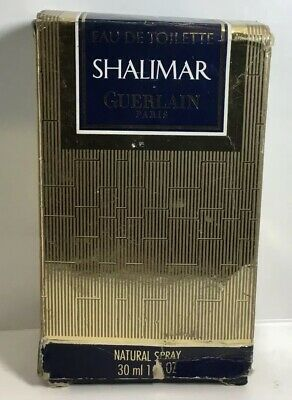 "Vintage Sealed Double Box Guerlain Perfume Extrait ""Shalimar""1 Fl Oz."
