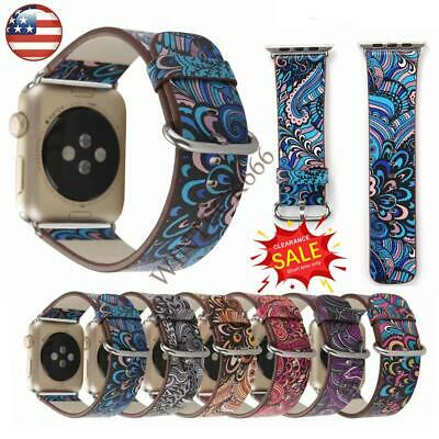 for iWatch Series 5 4 3 2  44/40/38/42 Genuine Leather Apple Watch Band Strap