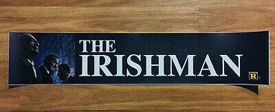 💥 THE IRISHMAN - Martin Scorsese -  Movie Theater Poster / Mylar - LARGE 5x25