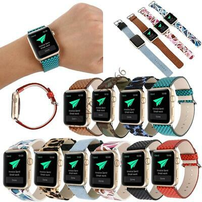 For Apple Watch iWatch 5 4 3 2 1 Leather Sport Stylish Replacement Band Strap