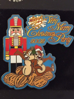 WDW Mickey's Very Merry Christmas Party 2002 Nutcracker, Chip and Dale #2 Pin