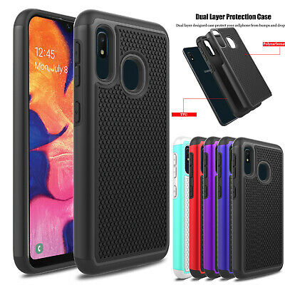 For Samsung Galaxy A10e A20 A30 A50 Dual Shockproof Hybrid Silicone Case Cover