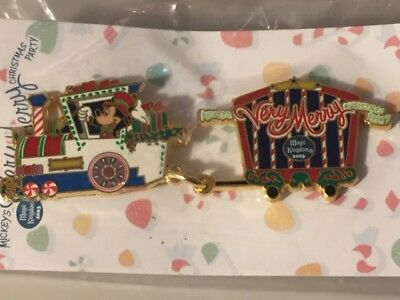 WDW Mickey's Very Merry Christmas Party 2003 Holiday Train Pin LE NOC SEALED