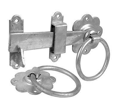- Black Japanned Merriway/® BH01807 Gate Door Latch Smooth Ring 150mm 6 inch
