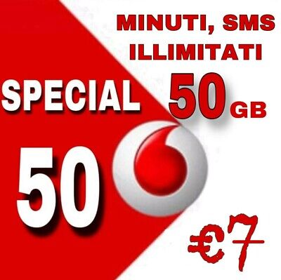Passa a VODAFONE UNLIMITED MIN/ SMS ILLIM. 50 Gb/-TIM-WIND-3-HO-VIRTUALI/NEGOZIO