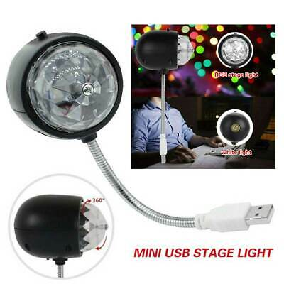 Mini RGB Disco Party DJ LED Stage Effect Light Lamp Laser Crystal Magic Ball USB