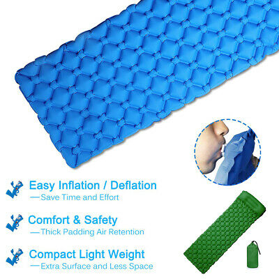 TPU Ultralight Pillow Sleeping Mat Camping Air Pad Roll Bed Mattress Inflatable