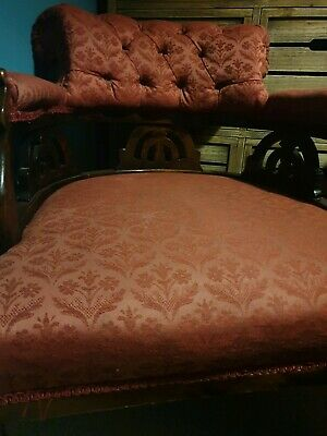Victorian Nursing Chair Low Upholstered Bedroom Parlour Antique Furniture