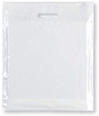 """Strong Carrier Bags 15 x 18 x 3"""" Premium Quality - White Plastic Heavy Duty Bags"""