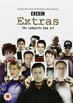 Extras Complete DVD Box Set Series 1 2 Collection Season Ricky Gervais Comedy