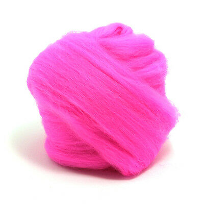 100g DYED MERINO WOOL TOP FLO PINK DREADS 64's SPINNING FELTING ROVING