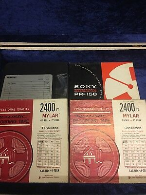 Lot of 8 Reel-to-Reel Tapes (Used)