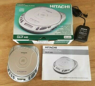 Hitachi DA-P440 Personal CD Player Boxed +  Power Supply & Instructions GWC