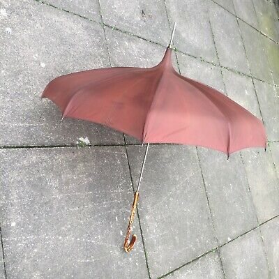 Kendall British Made Antique Parsol Style Umbrella Ornate Carved Handle