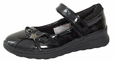 Girls Scuff Resistant Black Patent Coated Leather School/Party Mary Jane Shoes