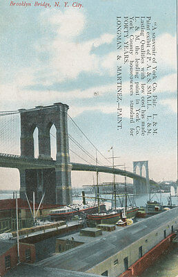 Brooklyn Bridge NYC * York PA Fair Paint Exhibit P.A. & S. Small L&M ca. 1908