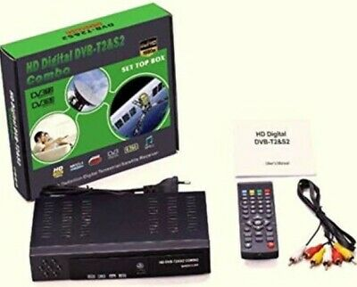Decoder Digitale Full HD 1080p Combo Terrestre & Satellitare DVB T2-S2 USATO