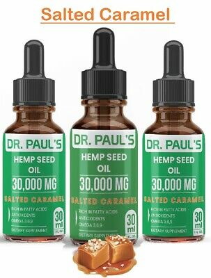 3 Pack - Hemp Oil Extract - Salted Caramel | Extra strength | 30,000 mg
