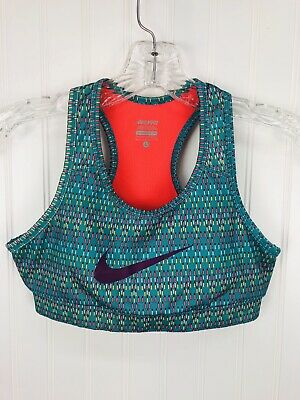 Nike Pro Youth Girl Dri Fit Sports Bra Size Large Multi-Color Stretch Athletic