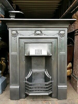 "Original Edwardian/Art Nouveau Cast Iron Fireplace..Circa 1901.. ""FREE DELIVERY"""