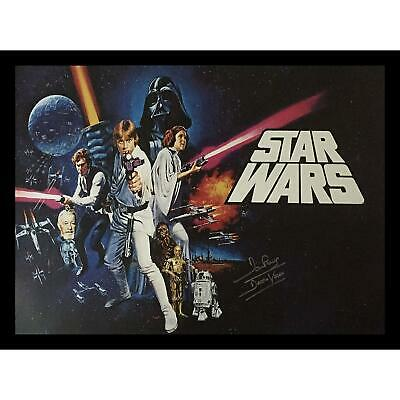 Dave Prowse Darth Vader Autographed And Framed Star Wars Signed Poster