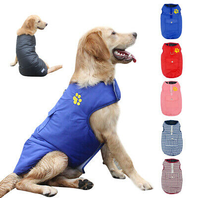 Warm Dog Winter Coat For Small Medium Large Pet Waterproof Jacket Outfit Clothes