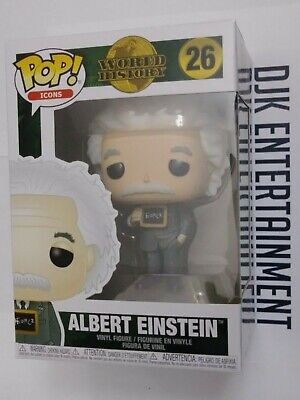 Funko Pop! Icons World History - Albert Einstein #26 Brand New