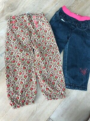 Girls Pair Trousers Age 2-3 Years