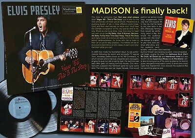 Elvis Collectors LP - Vegas '69 This Is The Story (2 LP + CD) Clear