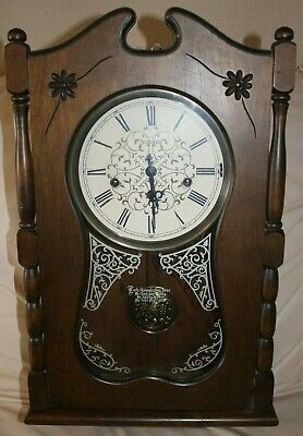 Vintage Ansonia Ezee-Set 735 Chime Automatic Wall Clock Made In USA
