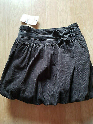 Verbaudet.  New with Tags.  age 6yrs (114cm) Grey Cord Puffball skirt