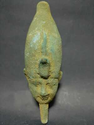 Rare Ancient Egyptian Antiques King Amenhotep ii Bronze Statue Egypt 1427-1397BC
