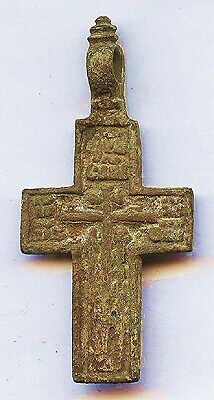 1000 Year Old CHRISTIAN CROSS with Inscription - Forensic Lab AUTHENTICATION