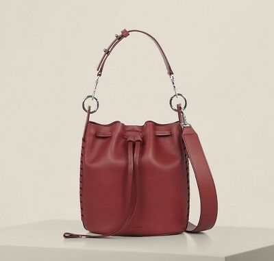 AllSaints Ray Small Bucket Bag in Berry Red: Shoulder/Mini/Ladies/Womens/Leather
