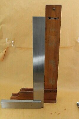 "STARRETT  No. 20    24""  MACHINIST SQUARE  W/ WOODEN STAND"