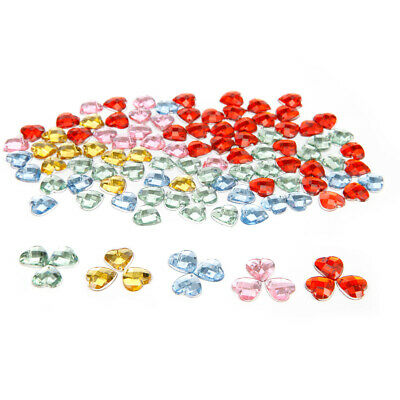 100 Love Heart Shape Sew On Resin Crystals Flat Back Gems For Clothes Shoes Bags
