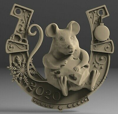 3D STL Model # THE MOUSE RAT 2020# for CNC Aspire Artcam Carving Engraver ASPIRE