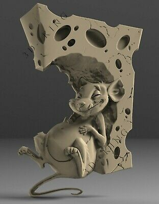 3D STL Model # THE MOUSE RAT 2 # for CNC Aspire Artcam Carving Engraver ASPIRE