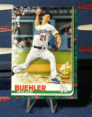 2019 Topps Holiday - WALKER BUEHLER - All ROOKIE CUP #HW187 WalMart Dodgers